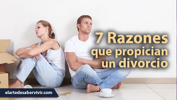 7 Razones que propician un divorcio